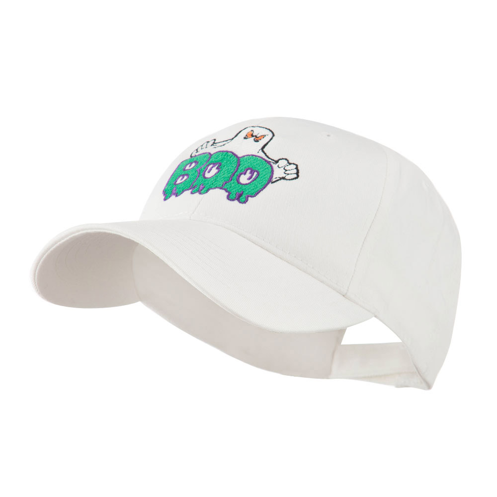 Halloween Ghost Boo Embroidered Cap - White - Hats and Caps Online Shop - Hip Head Gear