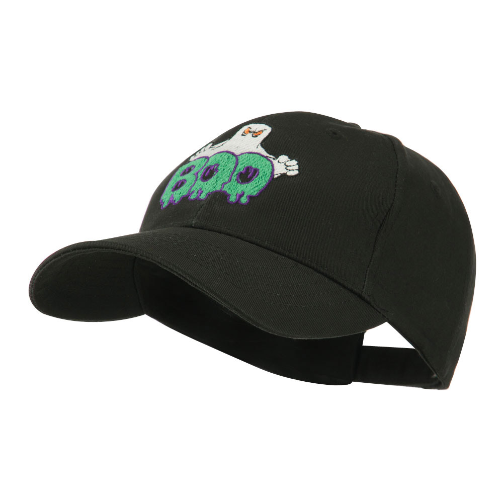 Halloween Ghost Boo Embroidered Cap - Black - Hats and Caps Online Shop - Hip Head Gear