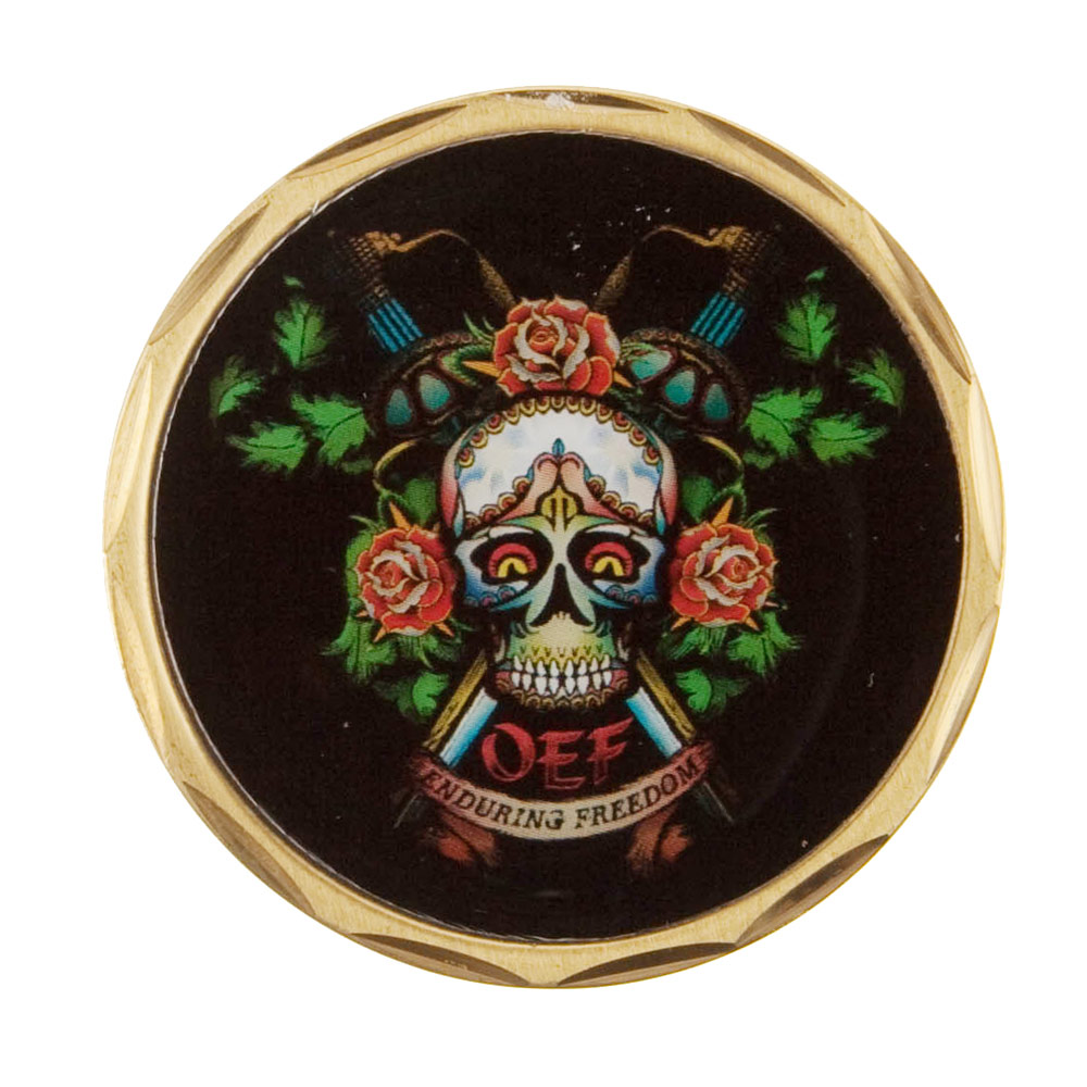 Operation Coin - Black Skull with Roses