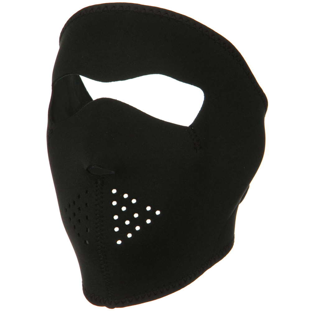 Oversized Neoprene Full Face Mask - Solid Black - Hats and Caps Online Shop - Hip Head Gear