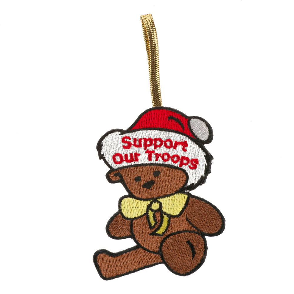 Support Our Troops Embroidered Ornament Medallion - Support Troop