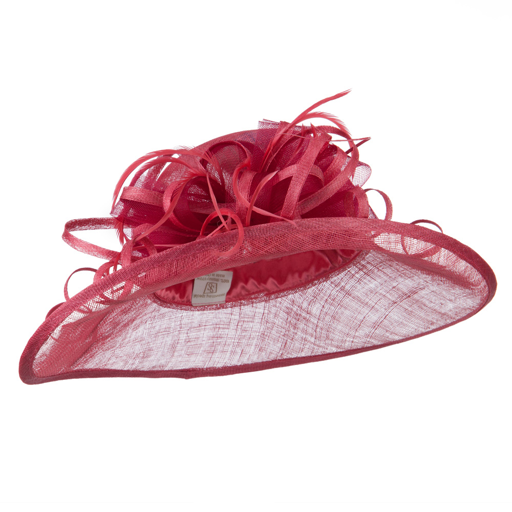 Oval Shape Brim Fashion Sinamay Hat - Berry - Hats and Caps Online Shop - Hip Head Gear