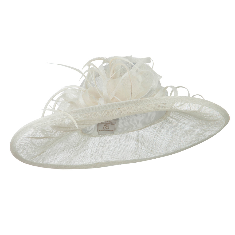 Oval Shape Brim Fashion Sinamay Hat - White - Hats and Caps Online Shop - Hip Head Gear