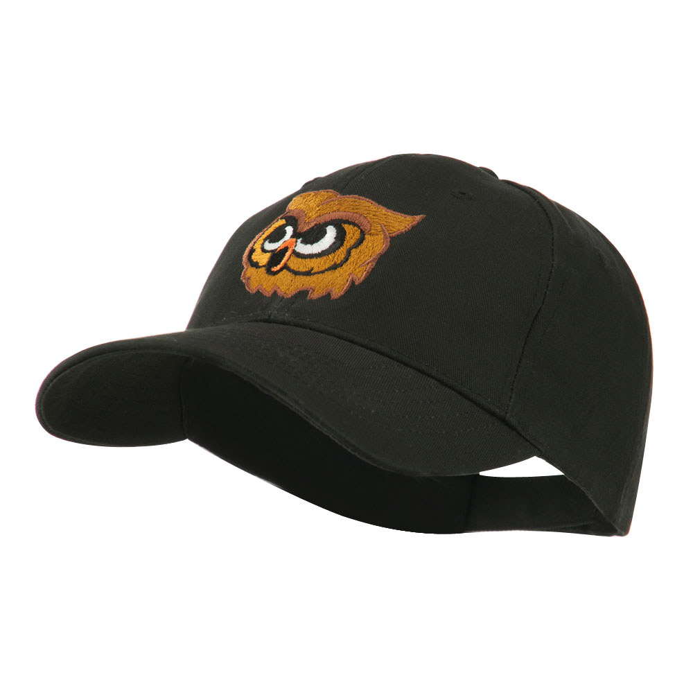 Brown Owl Mascot Embroidered Cap - Black - Hats and Caps Online Shop - Hip Head Gear