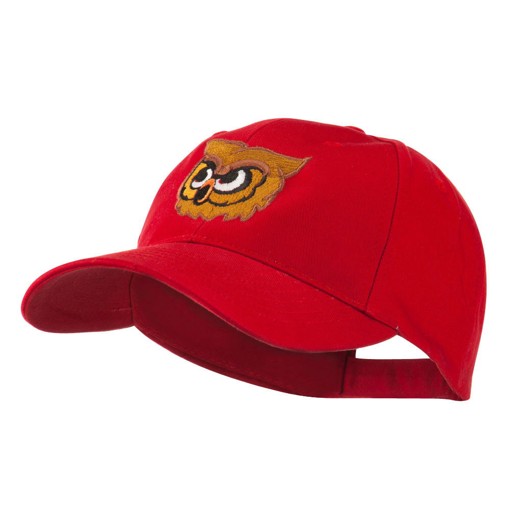Brown Owl Mascot Embroidered Cap - Red - Hats and Caps Online Shop - Hip Head Gear
