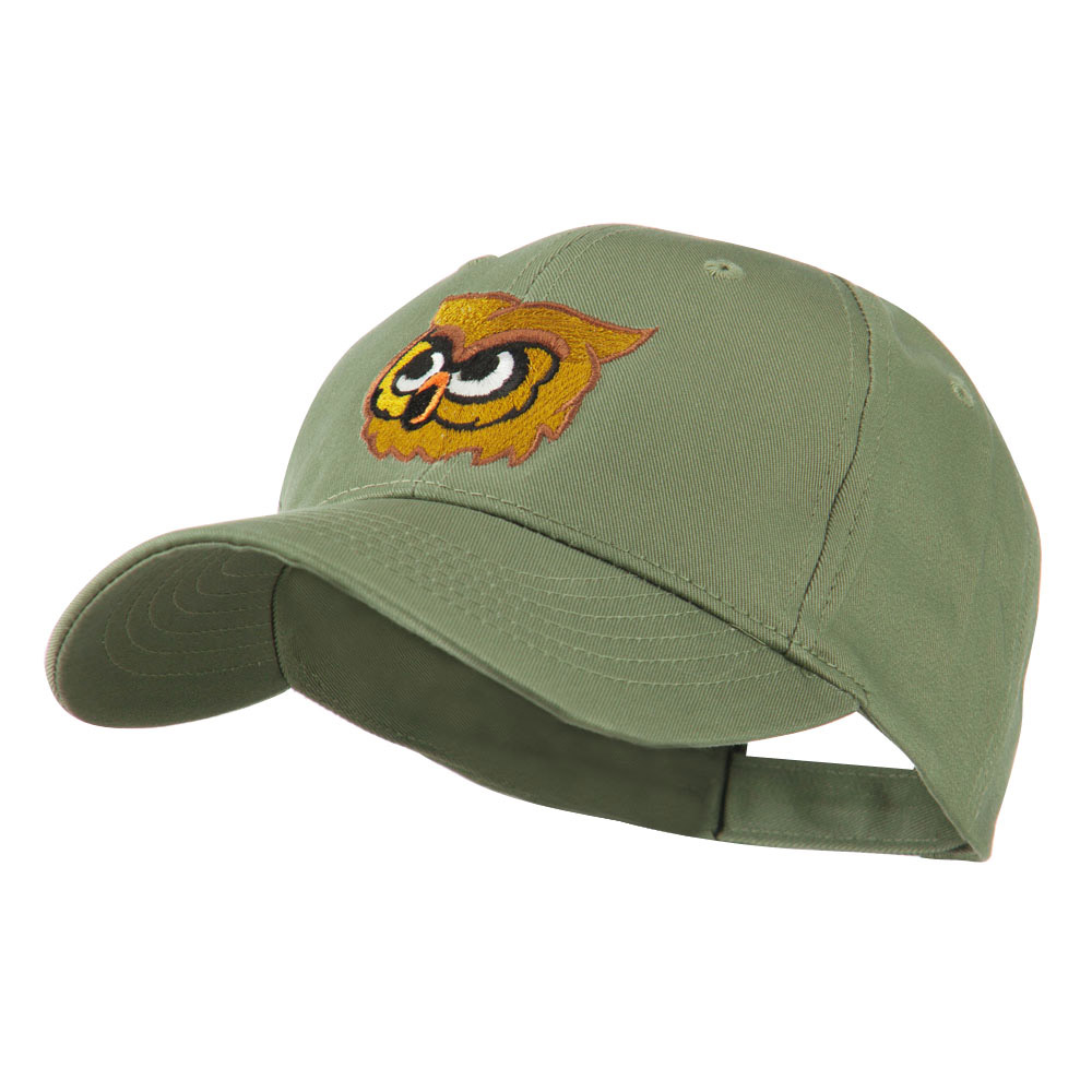 Brown Owl Mascot Embroidered Cap - Olive - Hats and Caps Online Shop - Hip Head Gear