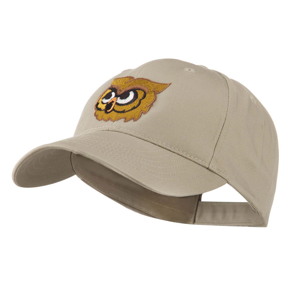 Brown Owl Mascot Embroidered Cap - Khaki - Hats and Caps Online Shop - Hip Head Gear