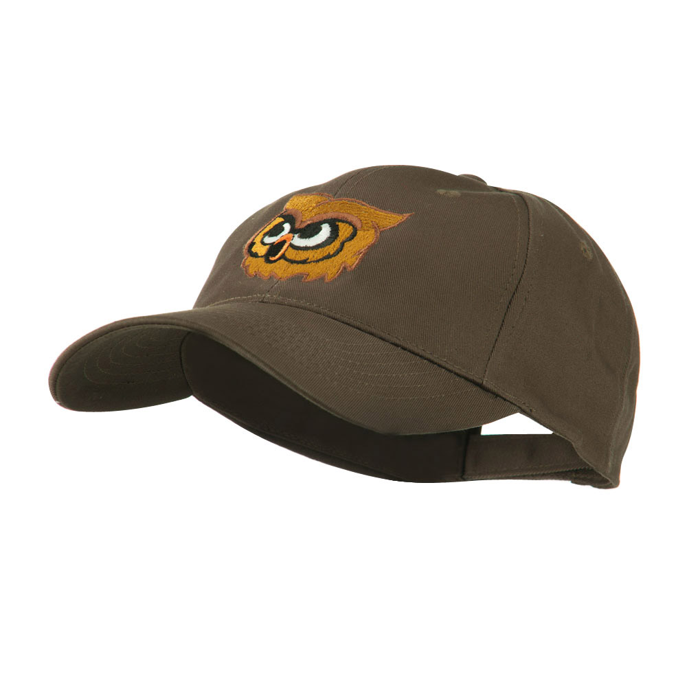 Brown Owl Mascot Embroidered Cap - Brown - Hats and Caps Online Shop - Hip Head Gear
