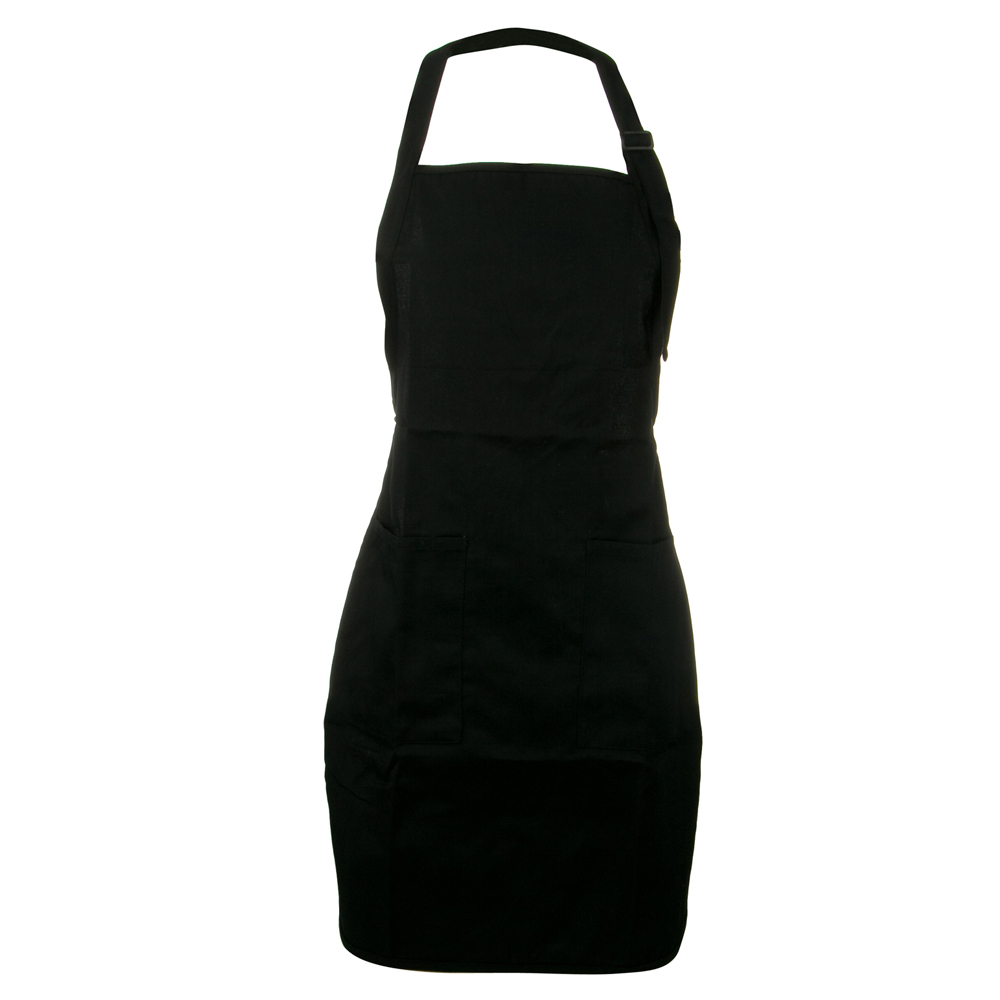 Soil Release Easy Care Full Length Apron - Black