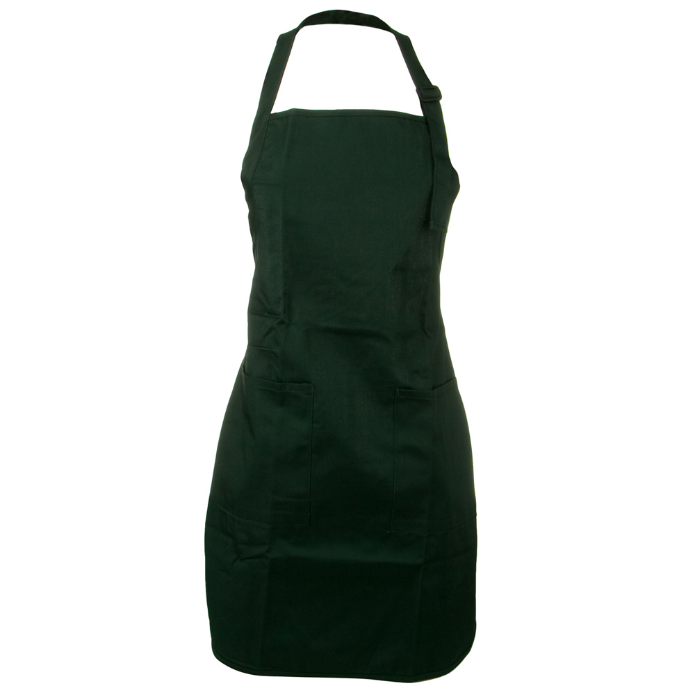 Soil Release Easy Care Full Lengh Apron - Hunter Green