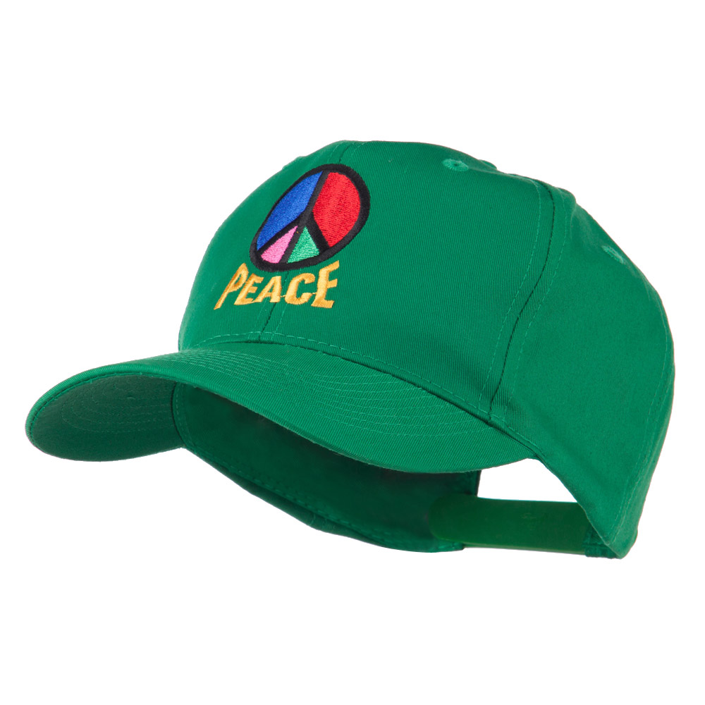 Peace Symbol Embroidered Cap - Kelly - Hats and Caps Online Shop - Hip Head Gear