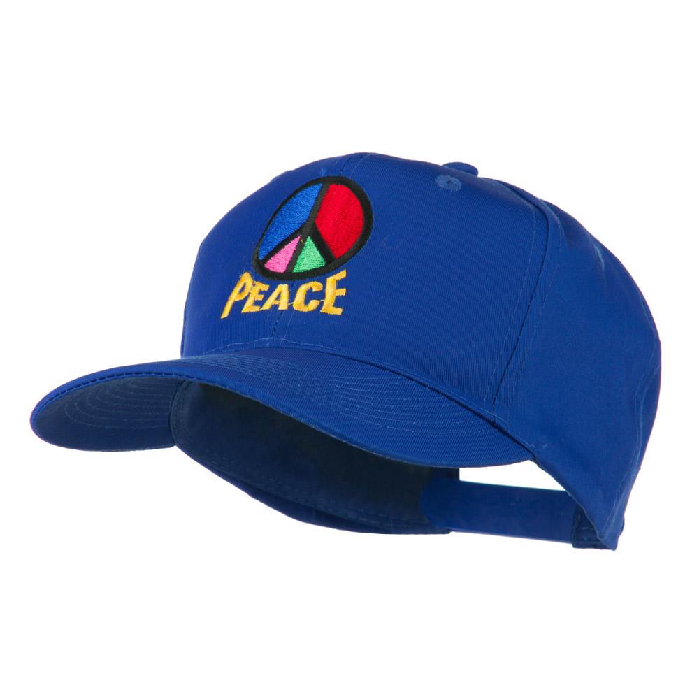 Peace Symbol Embroidered Cap - Royal - Hats and Caps Online Shop - Hip Head Gear