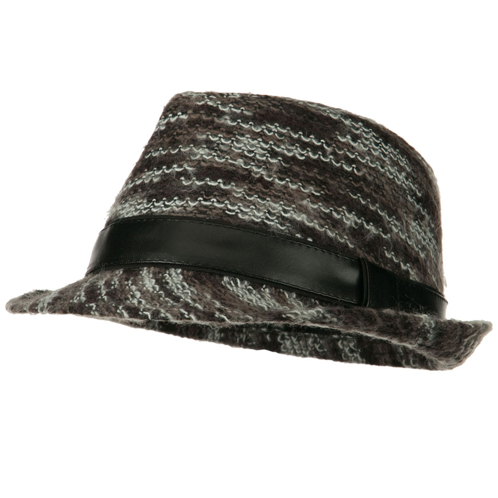 PU Band Multi Color Fedora - Black - Hats and Caps Online Shop - Hip Head Gear