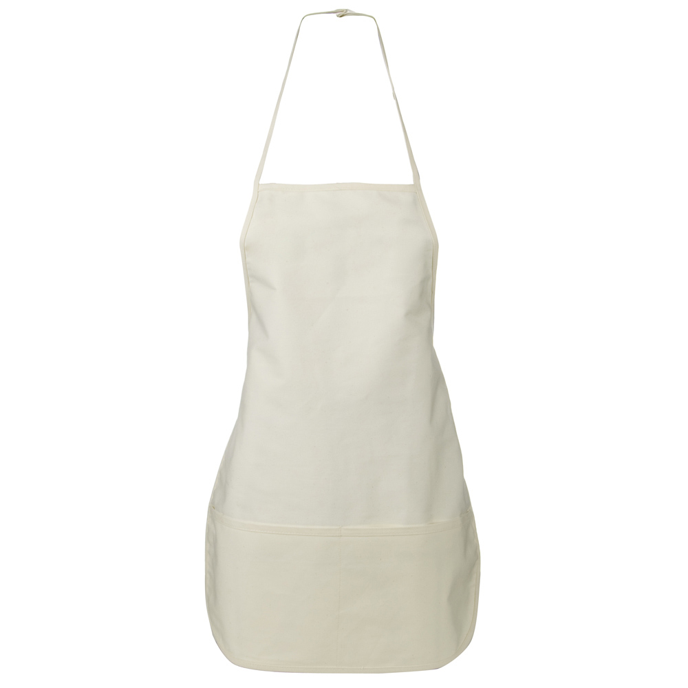 Large 2 Pocket Bib Apron - Natural