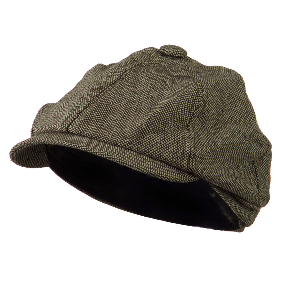 Poor Boy Short Brim Newsboy Cap - Brown - Hats and Caps Online Shop - Hip Head Gear