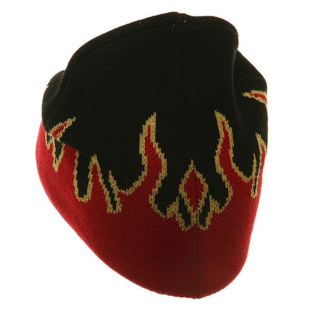 Flame Beanie-Red Gold Black - Hats and Caps Online Shop - Hip Head Gear