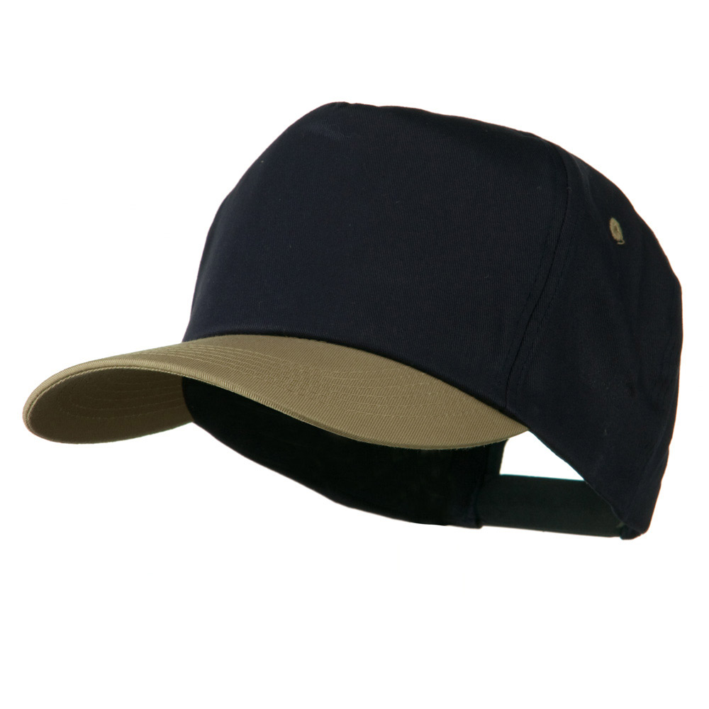 5 Panel Cotton Twill Cap - Navy Khaki - Hats and Caps Online Shop - Hip Head Gear