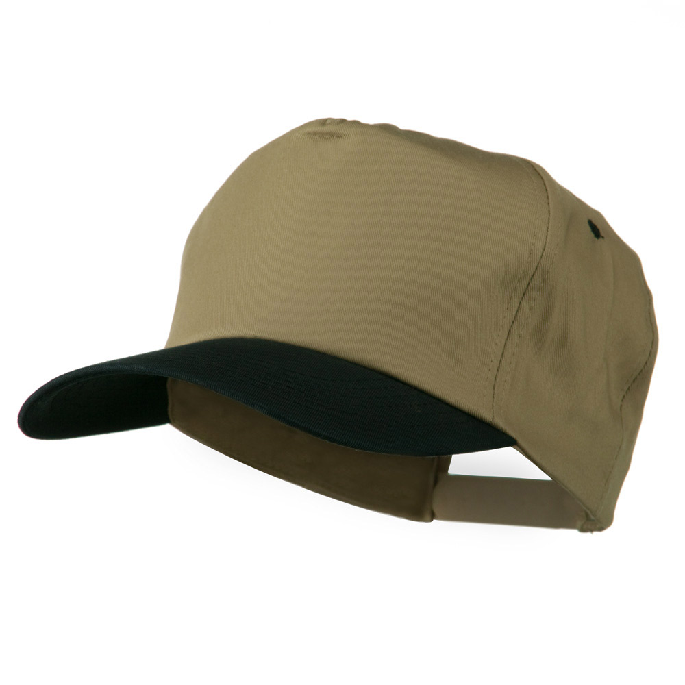 5 Panel Cotton Twill Cap - Khaki Navy - Hats and Caps Online Shop - Hip Head Gear