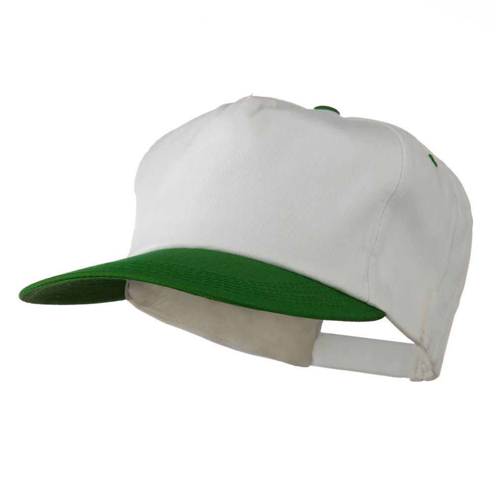 5 Panel Cotton Twill Cap - White Kelly - Hats and Caps Online Shop - Hip Head Gear