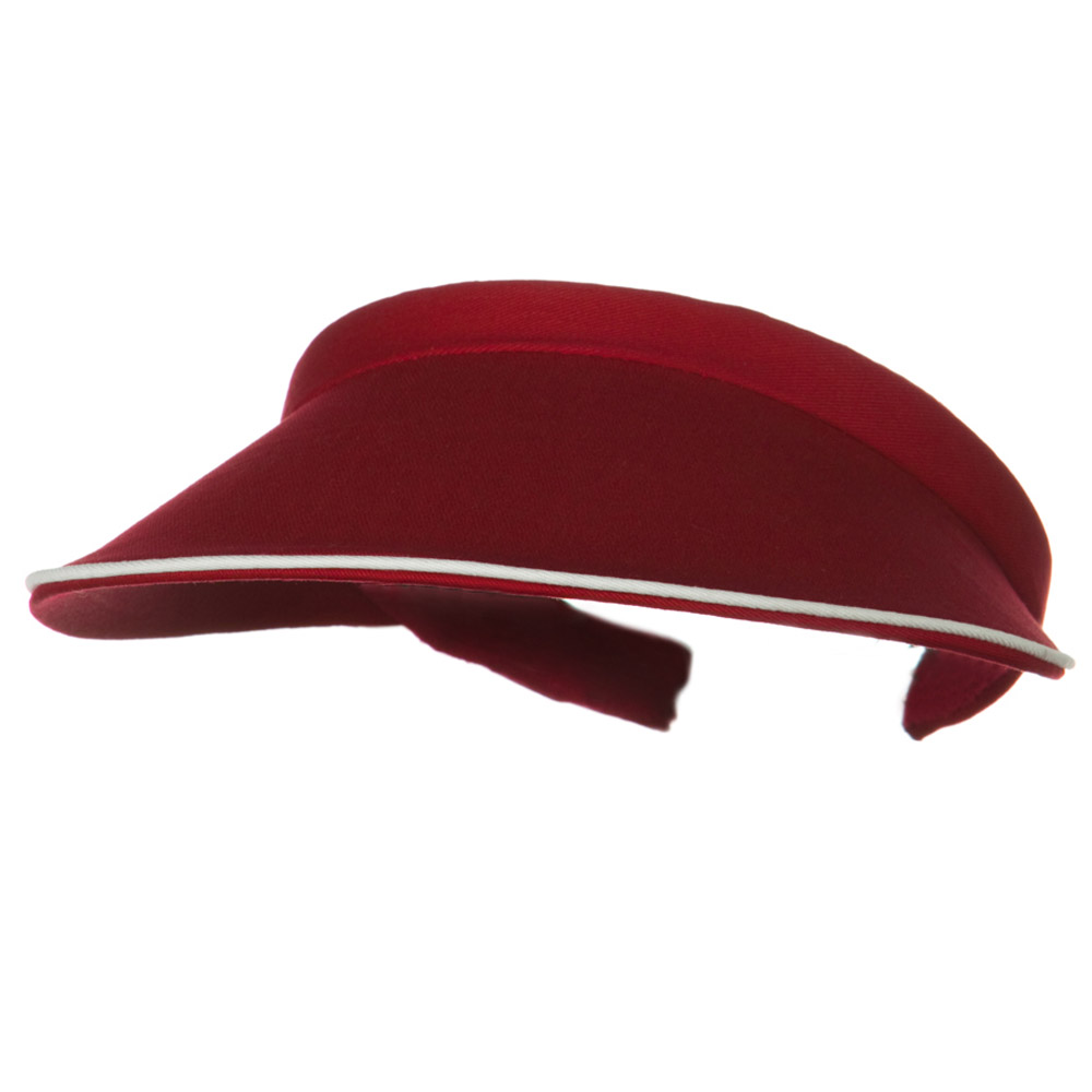 Piping Clip On Visor-Wine - Hats and Caps Online Shop - Hip Head Gear