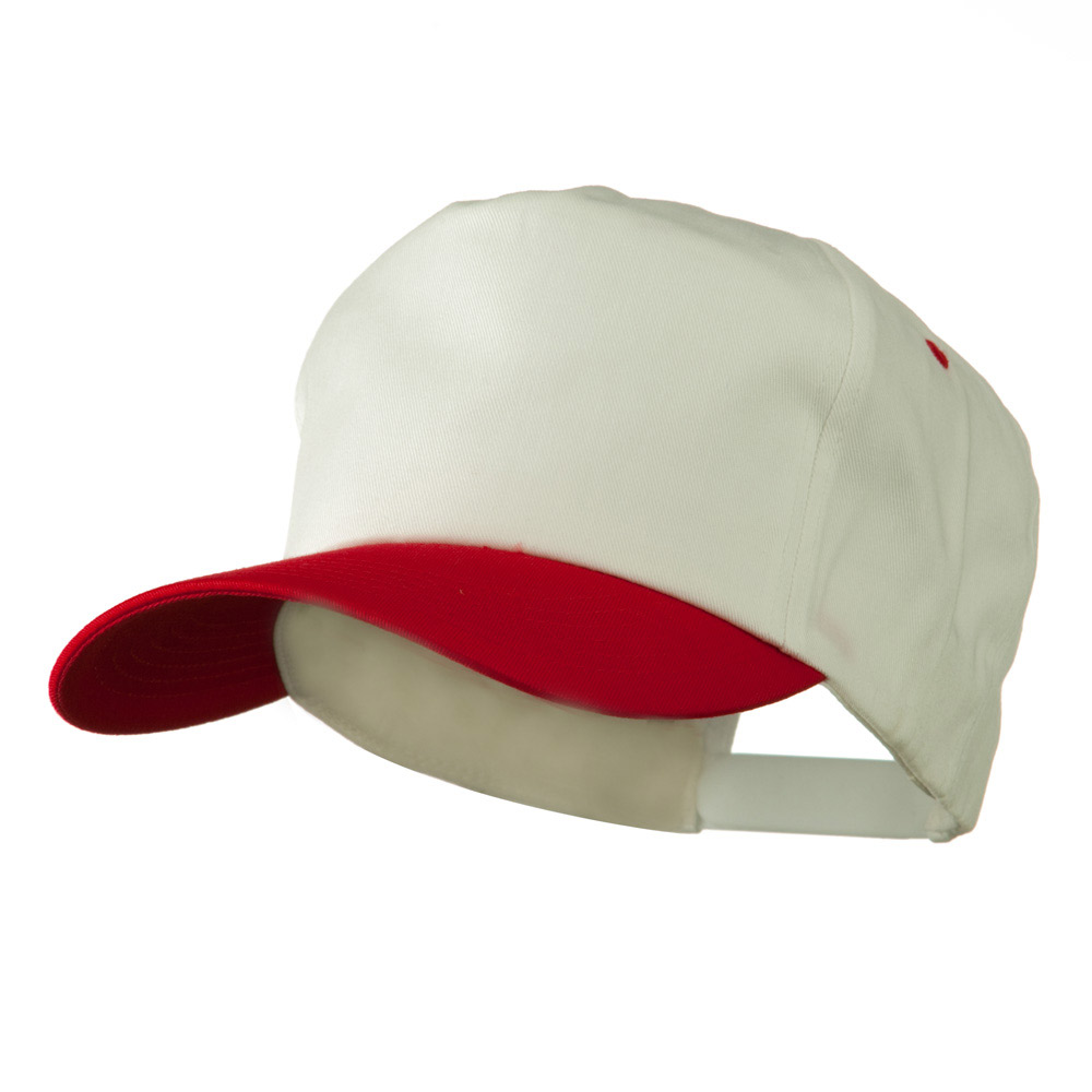 5 Panel Cotton Twill Cap - White Cardinal - Hats and Caps Online Shop - Hip Head Gear
