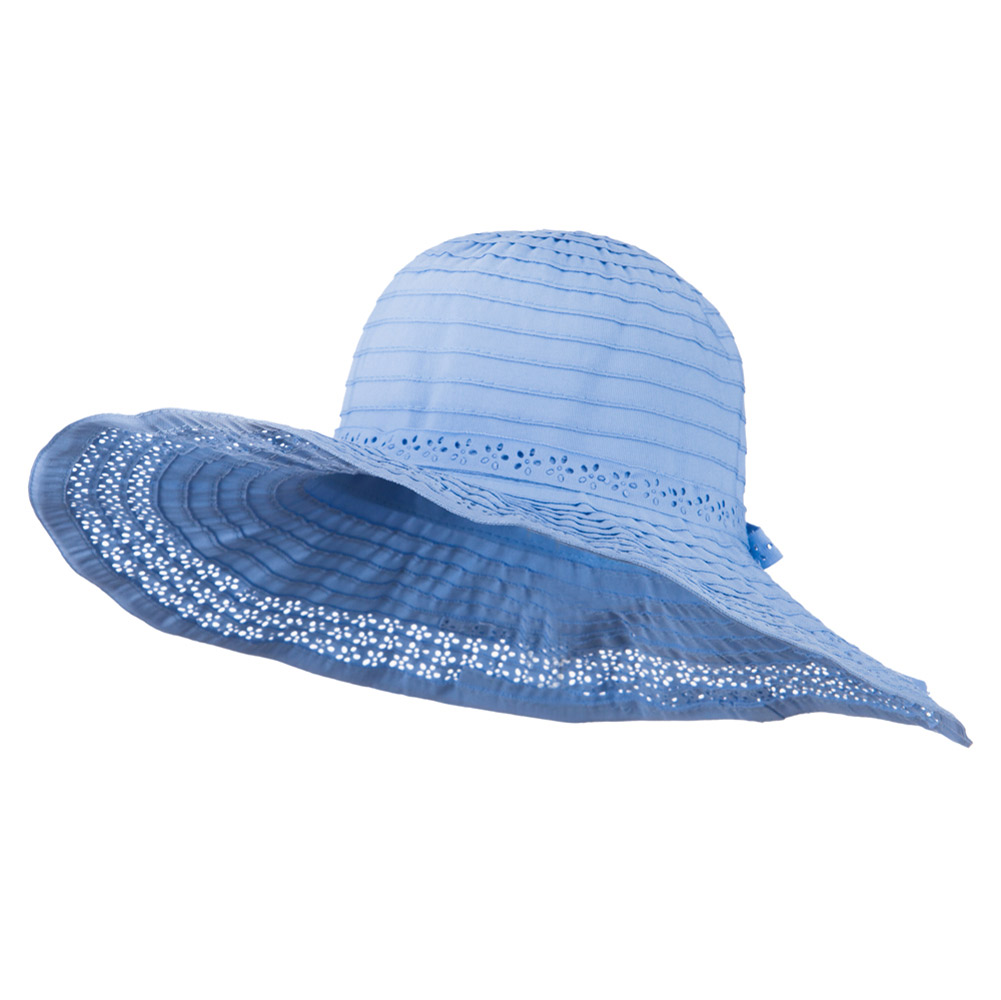 5 Inch Perforated Edge Brim Hat - Blue - Hats and Caps Online Shop - Hip Head Gear
