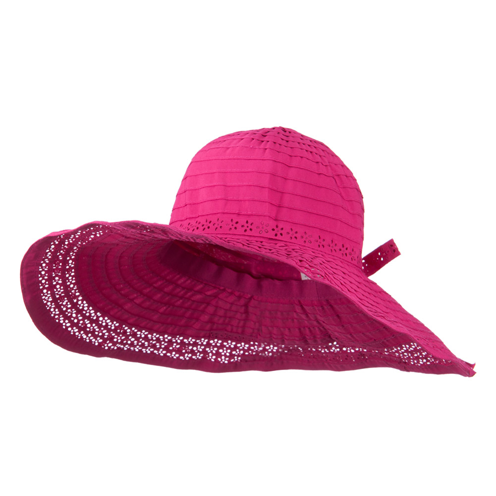 5 Inch Perforated Edge Brim Hat - Fuchsia - Hats and Caps Online Shop - Hip Head Gear