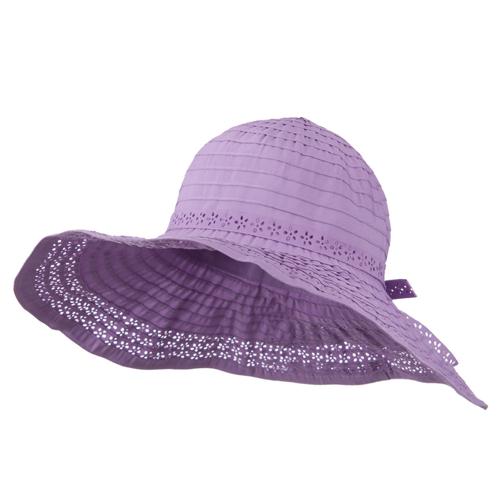 5 Inch Perforated Edge Brim Hat - Lilac - Hats and Caps Online Shop - Hip Head Gear