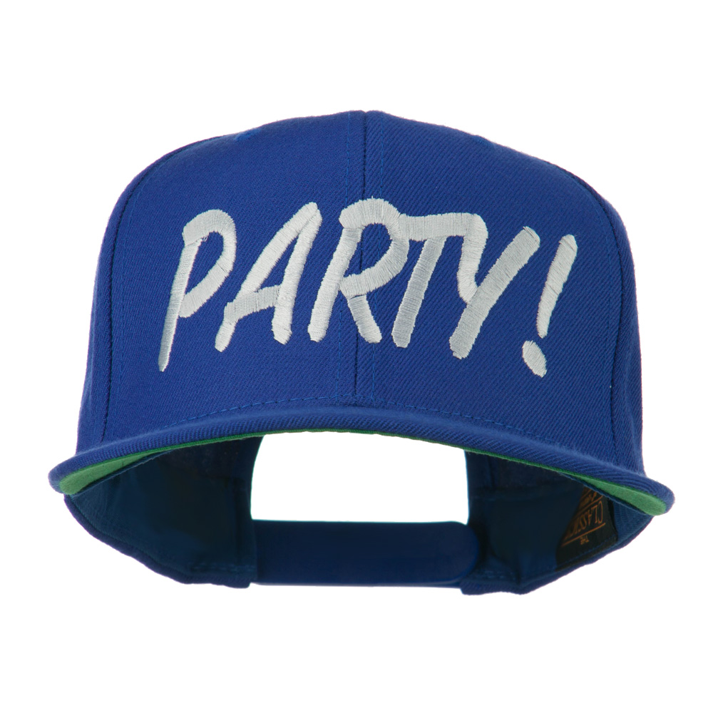 Flat Bill Party Embroidered Cap - Royal - Hats and Caps Online Shop - Hip Head Gear