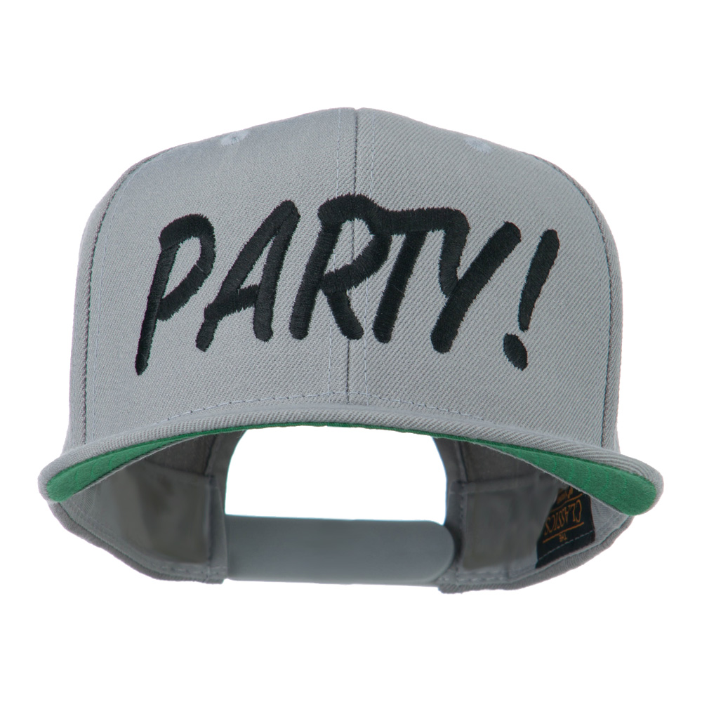 Flat Bill Party Embroidered Cap - Silver - Hats and Caps Online Shop - Hip Head Gear