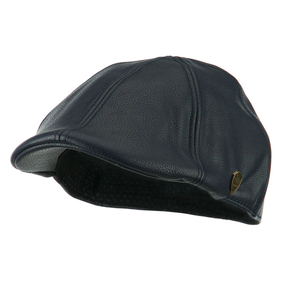 Pamoa Faux Leather Duckbill Ivy Hat - Navy - Hats and Caps Online Shop - Hip Head Gear
