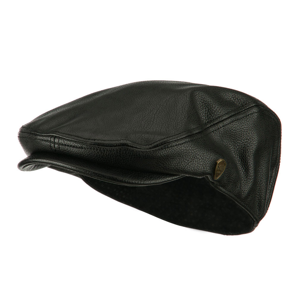 Pamoa Faux Leather Classic Ivy Hat - Black - Hats and Caps Online Shop - Hip Head Gear