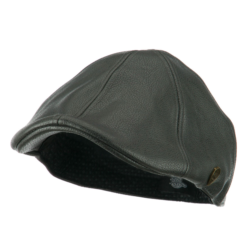 Pamoa Faux Leather Duckbill Ivy Hat - Grey - Hats and Caps Online Shop - Hip Head Gear