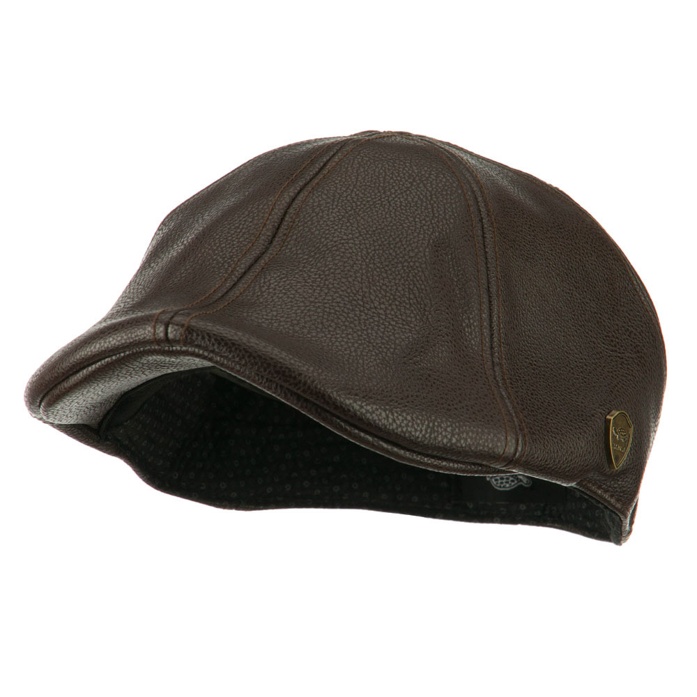 Pamoa Faux Leather Duckbill Ivy Hat - Brown - Hats and Caps Online Shop - Hip Head Gear