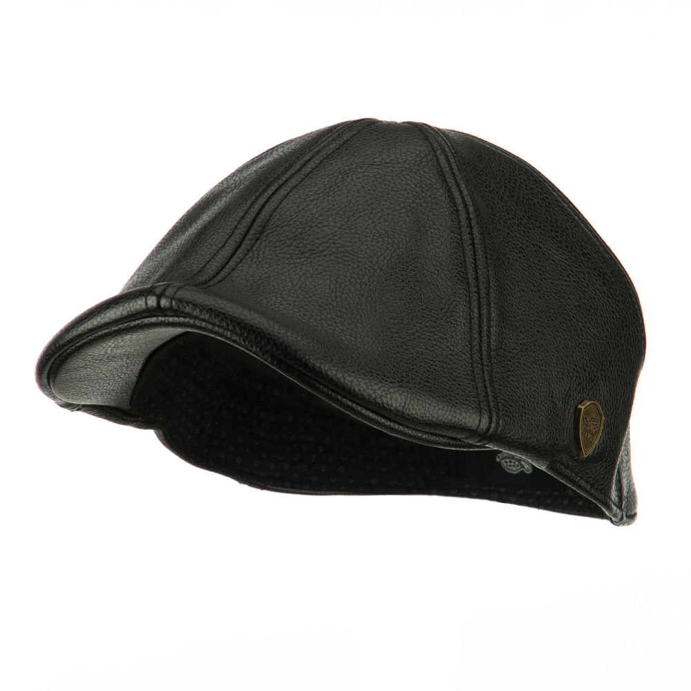 Pamoa Faux Leather Duckbill Ivy Hat - Black - Hats and Caps Online Shop - Hip Head Gear