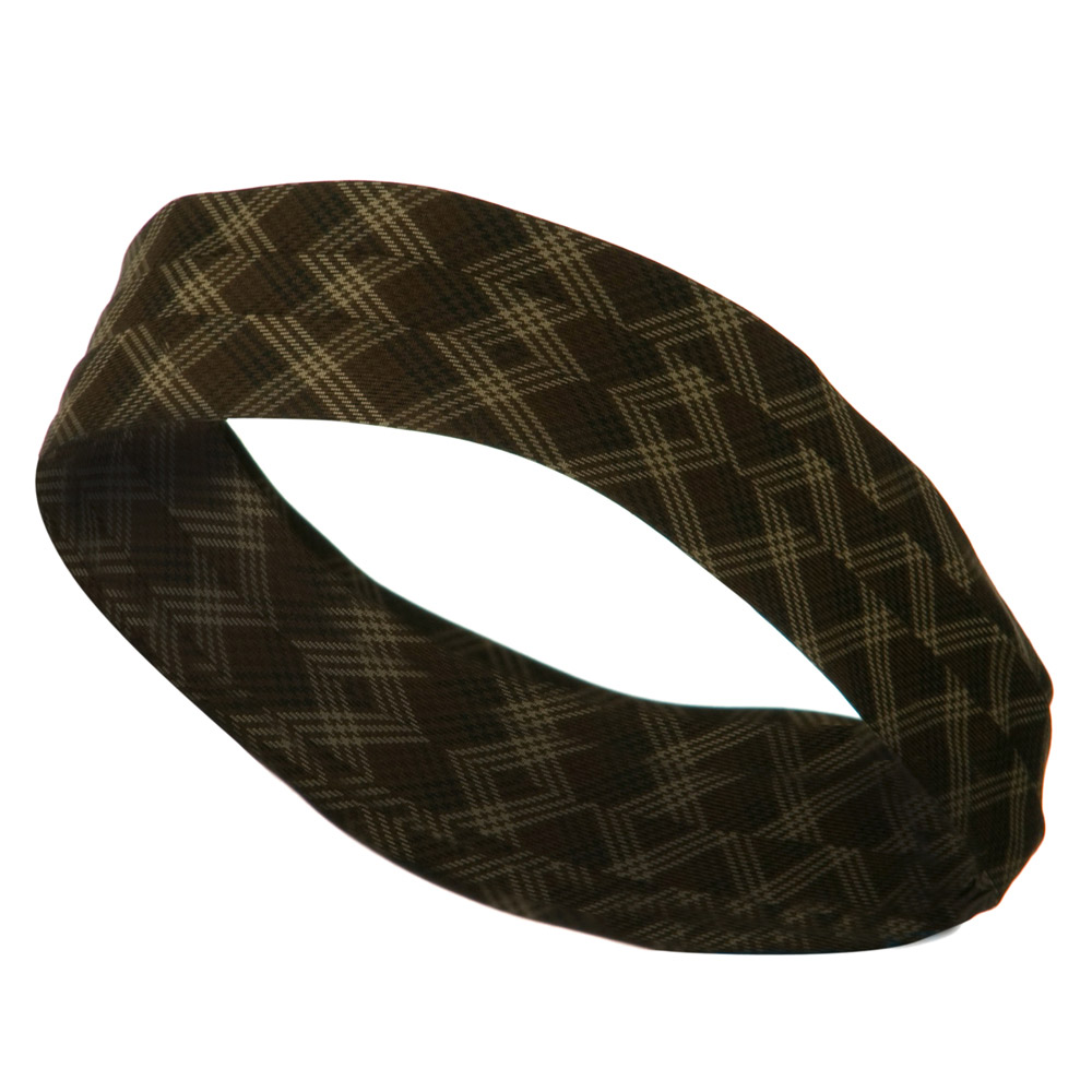 3 Pleated Hat Band - Brown Plaid (J) - Hats and Caps Online Shop - Hip Head Gear