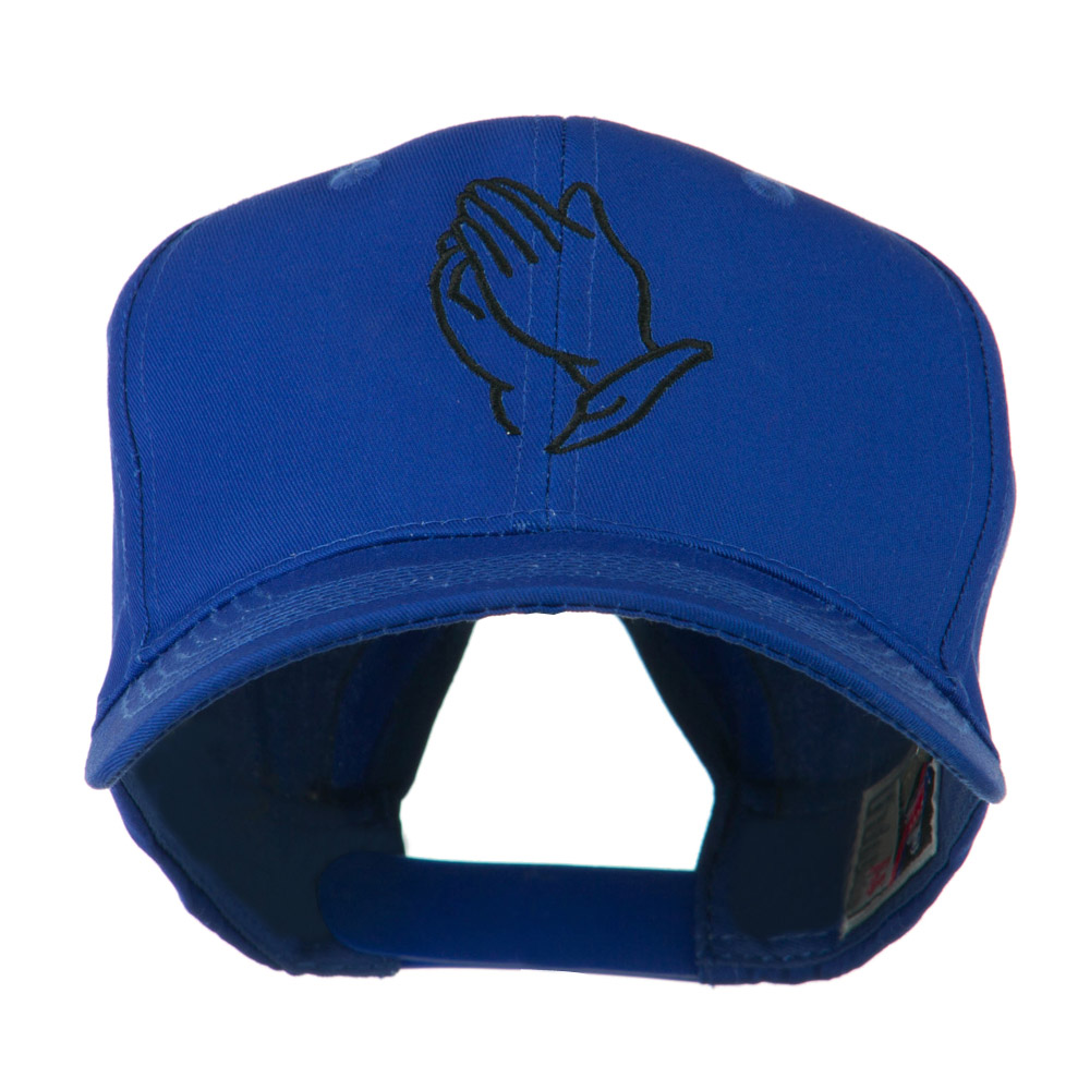 Praying Hands Embroidered Cap - Royal