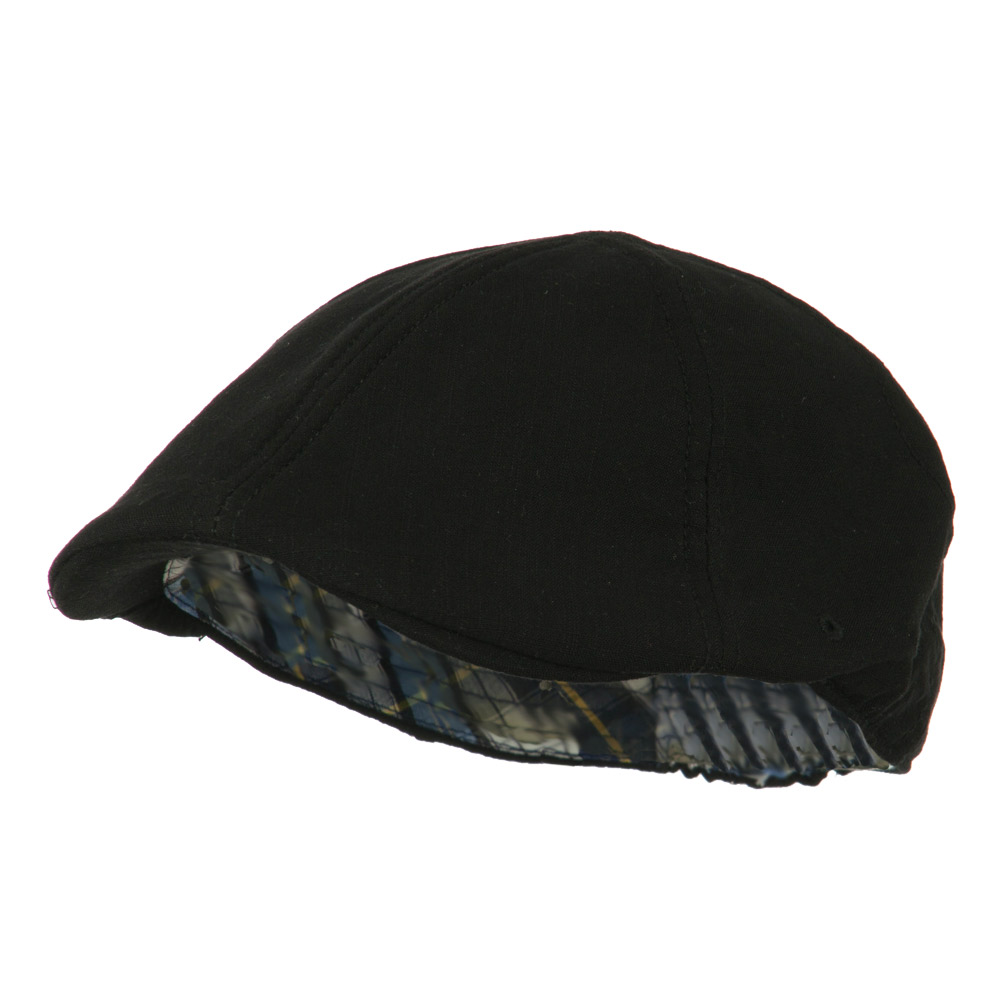 Plain Ivy Elastic Band Closure Cap - Black - Hats and Caps Online Shop - Hip Head Gear