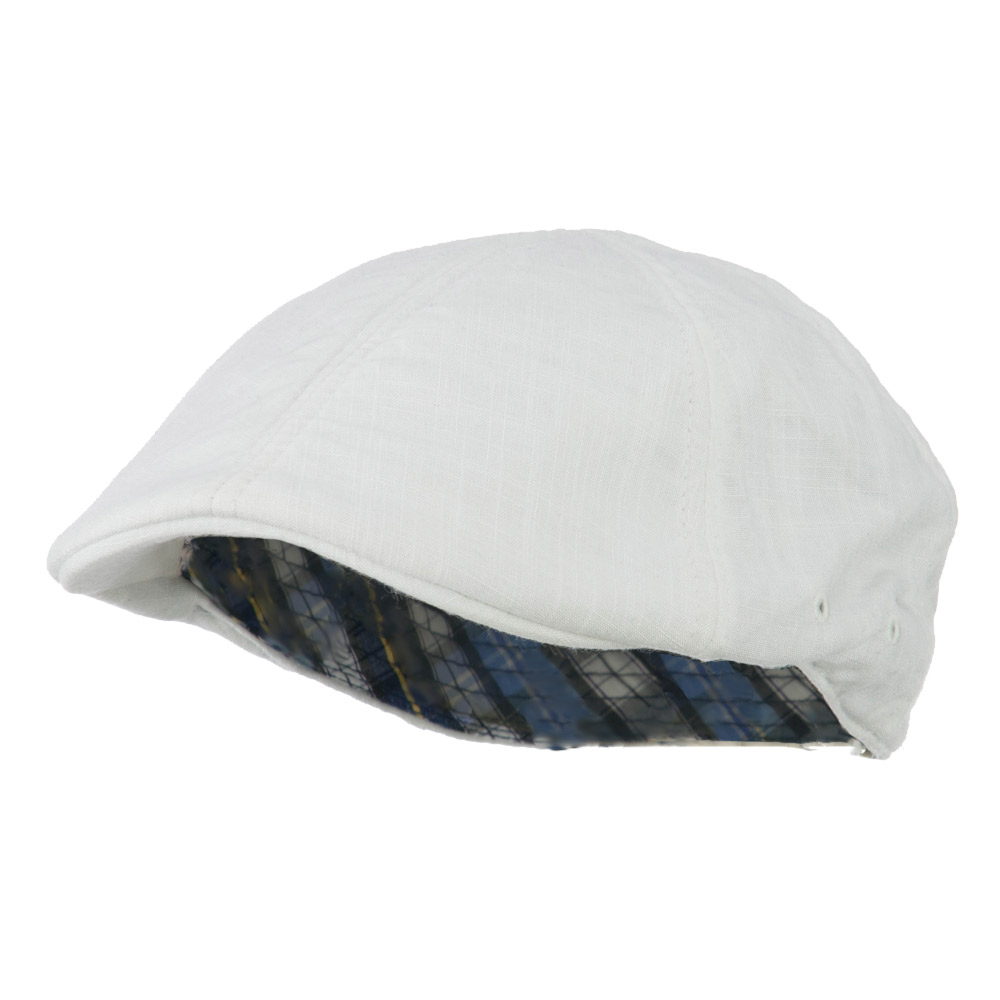 Plain Ivy Elastic Band Closure Cap - White - Hats and Caps Online Shop - Hip Head Gear