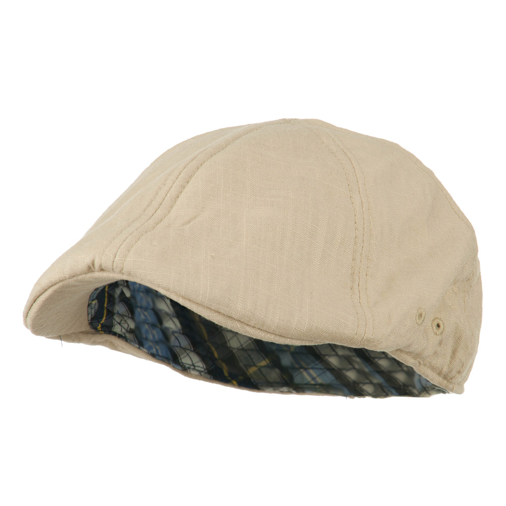 Plain Ivy Elastic Band Closure Cap - Tan - Hats and Caps Online Shop - Hip Head Gear