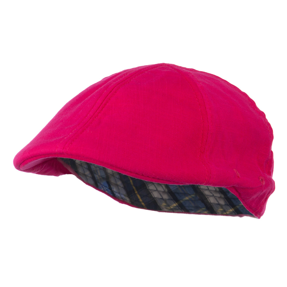 Plain Ivy Elastic Band Closure Cap - Fuchsia - Hats and Caps Online Shop - Hip Head Gear
