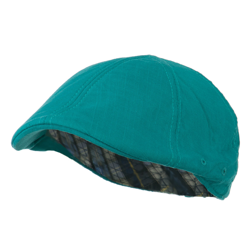 Plain Ivy Elastic Band Closure Cap - Turquoise - Hats and Caps Online Shop - Hip Head Gear
