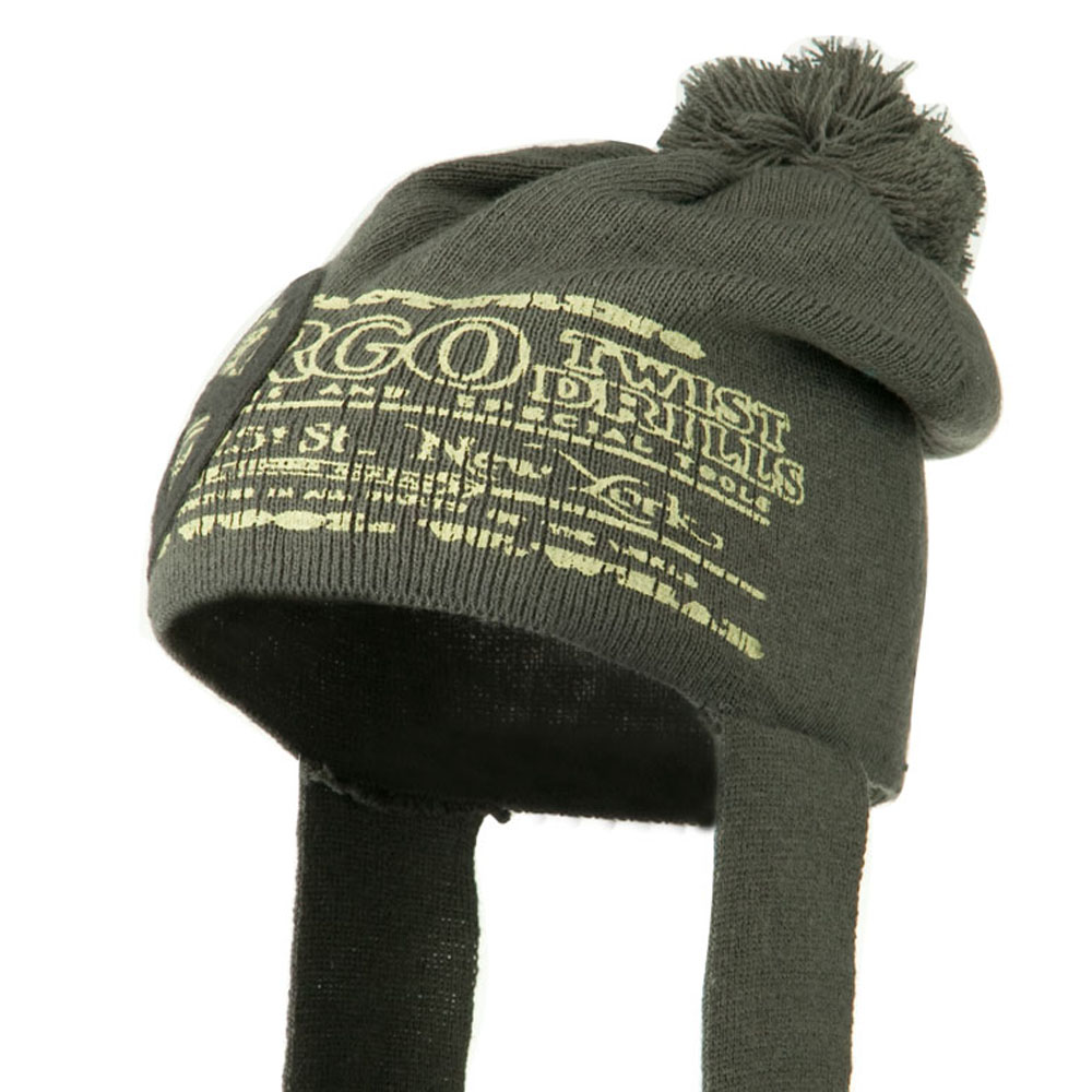 Peace Knit Hat with Long Band - Grey - Hats and Caps Online Shop - Hip Head Gear