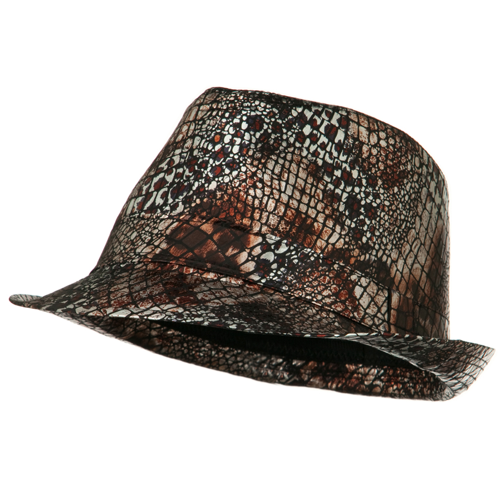 Python Multi Animal Color Fedora - Black - Hats and Caps Online Shop - Hip Head Gear