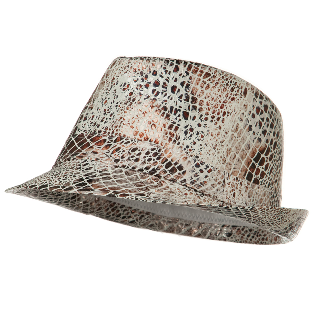 Python Multi Animal Color Fedora - White - Hats and Caps Online Shop - Hip Head Gear