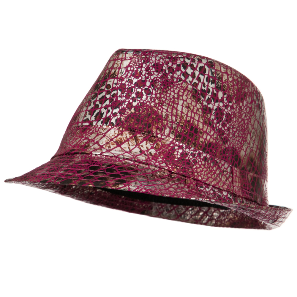 Python Multi Animal Color Fedora - Burgundy - Hats and Caps Online Shop - Hip Head Gear