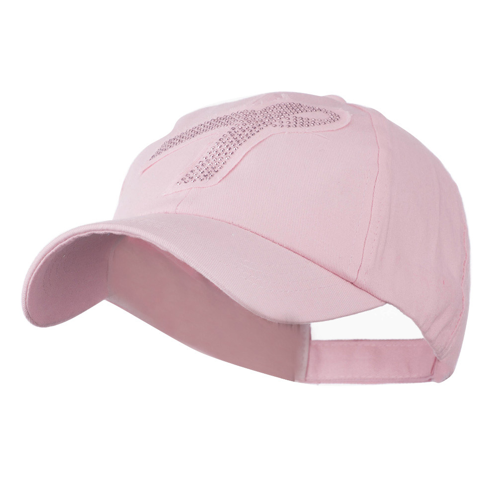 Breast Cancer Cap with Pink Metal Studs - Pink - Hats and Caps Online Shop - Hip Head Gear