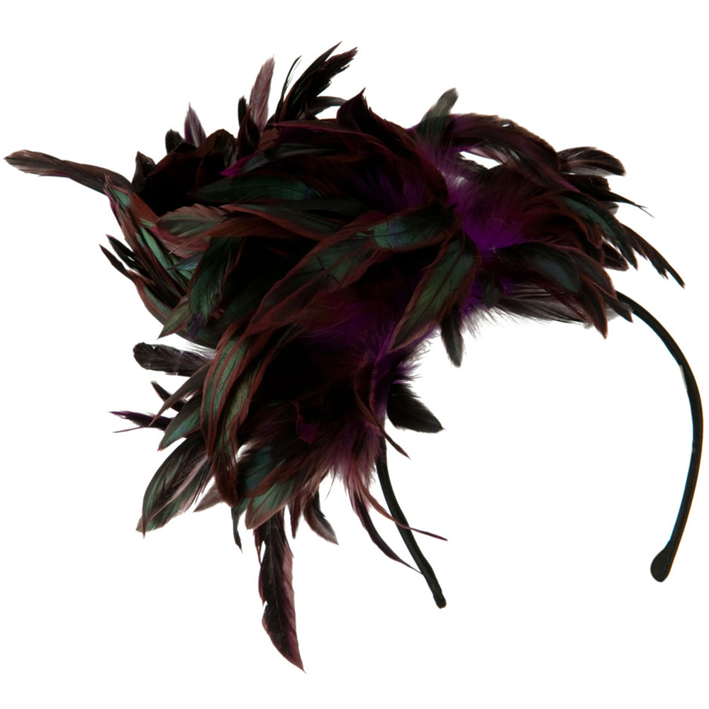 Peacock Multi Color Fascinator - Purple - Hats and Caps Online Shop - Hip Head Gear