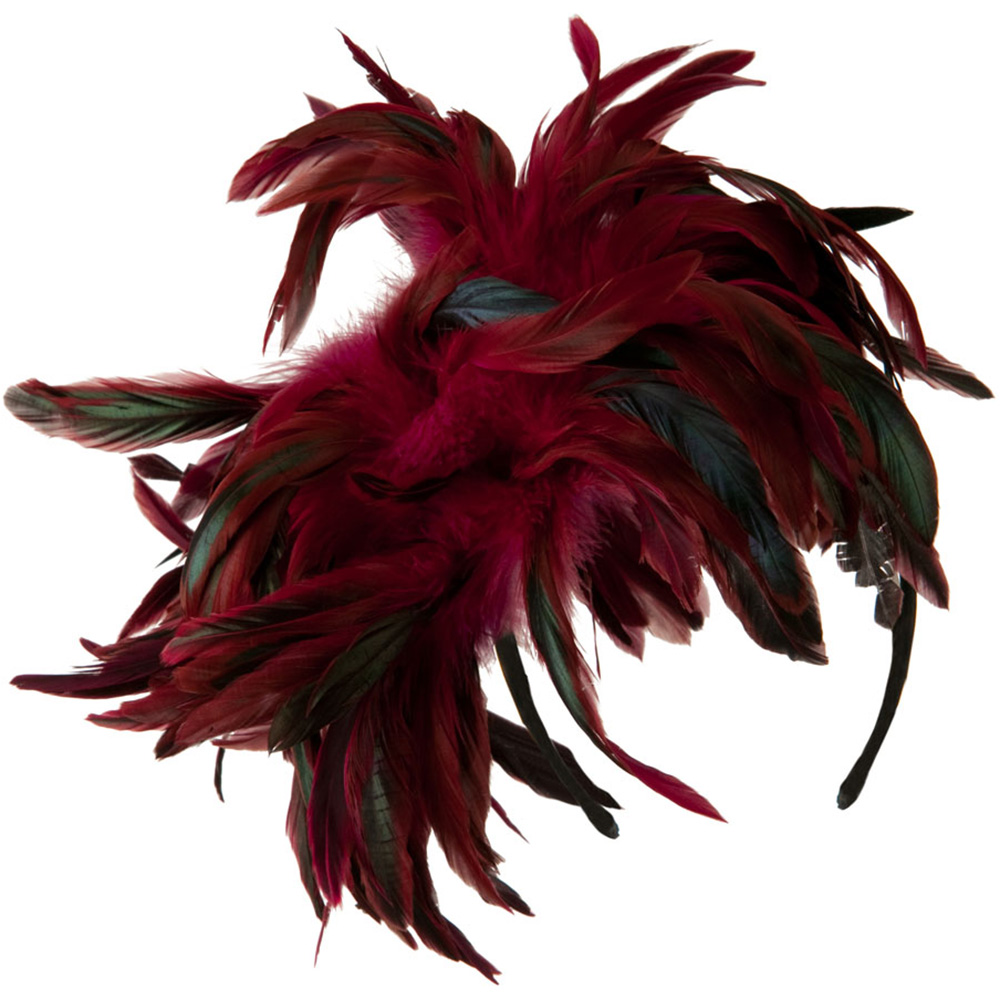 Peacock Multi Color Fascinator - Fuschia - Hats and Caps Online Shop - Hip Head Gear