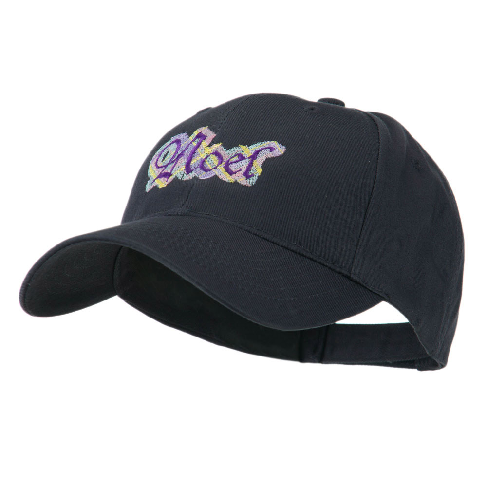 Christmas Plaid Noel Embroidered Cap - Navy - Hats and Caps Online Shop - Hip Head Gear